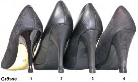 4 PAAR - 4 Grössen - Schwarz