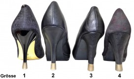 4 PAAR - 4 Grössen - Perlmutt